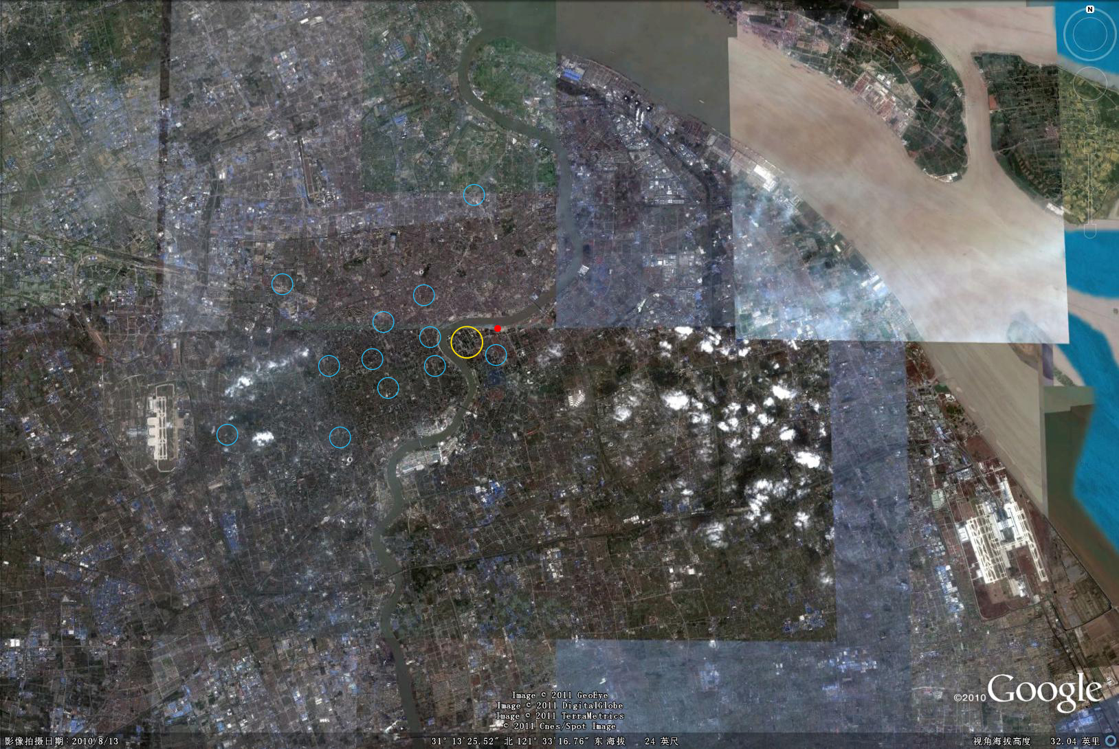 上海北外滩规划 上海北外滩规划图 黄浦江两岸的规划,对北高清图片